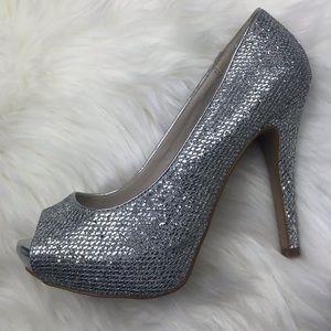 Aldo Silver Formal Heels